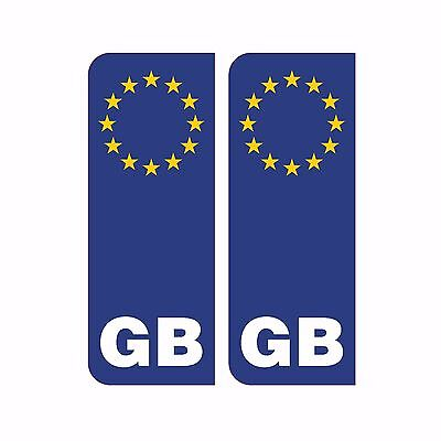 GB Euro Number Plate Stickers Vinyl For EU European Travel Car Decal Badge