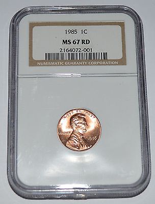 1985 Lincoln Cent MS67 RD NGC