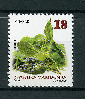 Macedonia 2016 MNH Spinach 1v Set Vegetables Plants Stamps