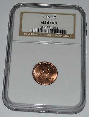 1989 Lincoln Cent MS67 RD NGC