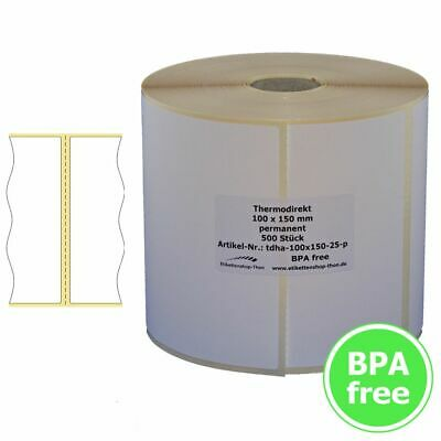 Thermal Labels with Perforation - 100 x 150 mm - 500 Piece - DHL, GLS, Ups
