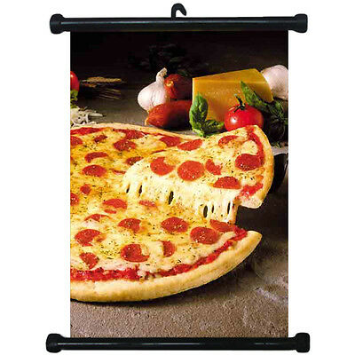 sp217113 Pizza Wall Scroll Poster For Shop Decor Display