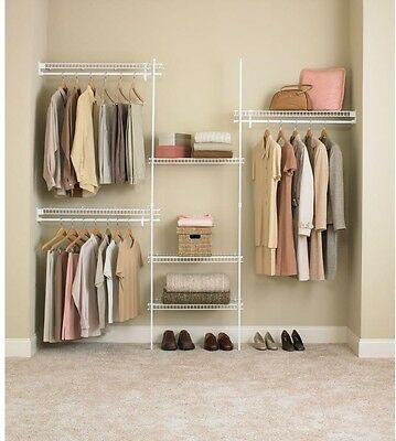 ClosetMaid Closet Organizer Kit White Ventilated Wire Shelves (5 ft. - 8 ft.)