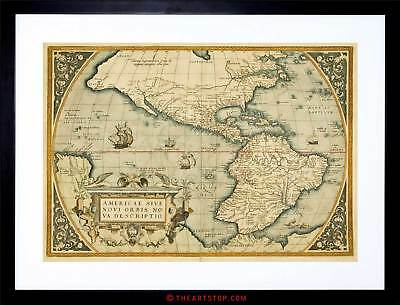Map Antique Mexico South America Pacific New Spain Framed Print F12X3979