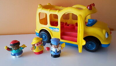 Fisher Price - Little People - Bus  + 3 personnages