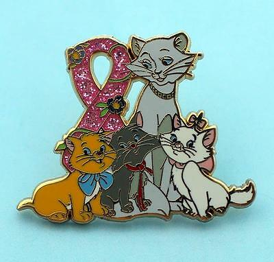 The Aristocats pink ribbon pin sparkle bling SUPPORT  ribbon