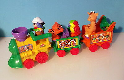 Fisher Price - Little People - train   + 1 personnage et 3 animaux