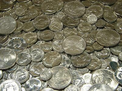 PRE-1964 Uncirculated US Silver Coins BU Estate Lot Collection 24K Gold Bullion