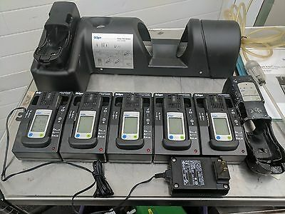 Lot (5) Drager X AM 2000 Gas Monitors w/ 5 Bay Charging Station and Bump Station