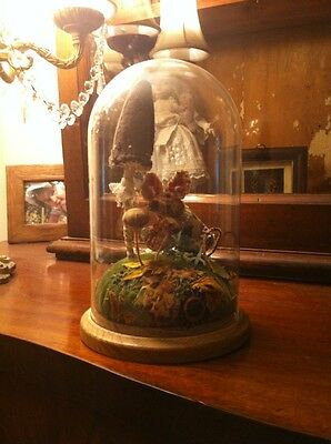 Byony Rose Textile Mouse In A Glass Dome