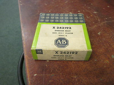 Allen-Bradley Overload Relay X-242192 For Size 00-0-1 Starter New Surplus