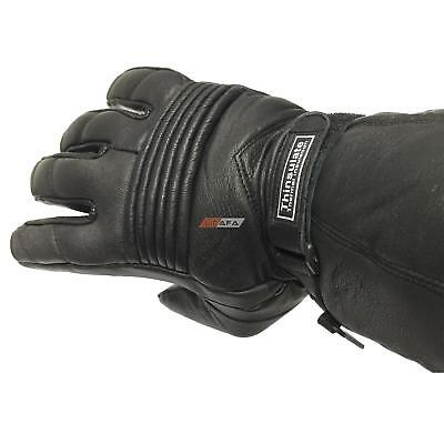 Genuine Thermal Motorbike Bikers Leather Gloves Thinsulate Waterproof Protection