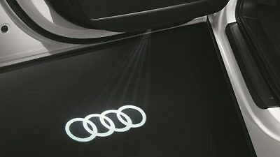 Genuine Audi LED Entry / Puddle Lights with Audi Rings Logo - Pack of 2