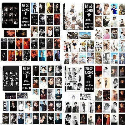 KPOP 30pcs EXO LOMO Card Collective Photo Picture Poster Chanyeol Xiumin Kai
