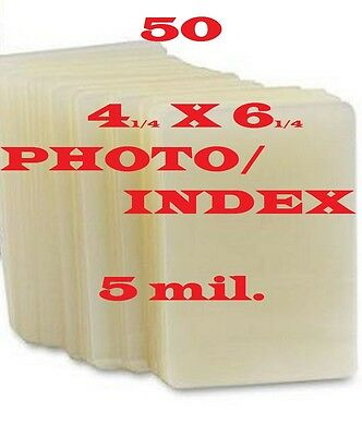 4 x 6 Laminating Pouches Sheets Photo Index Card 5 mil (50) 4-1/4 x 6-1/4