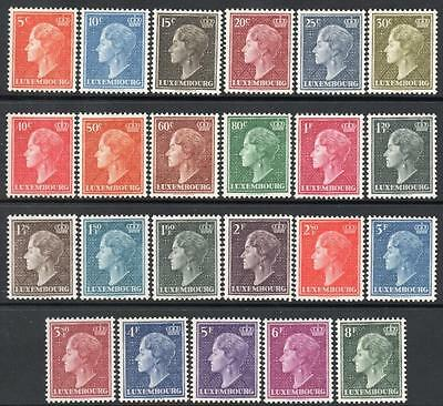 LUXEMBOURG MNH 1945/48 Definitive Set, Complete 23 values
