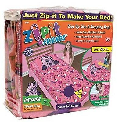 Zipit  Friends Twin Bedding Set, Pink Unicorn- As seen on TV