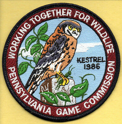 Pa Penna Pennsylvania Game Commission NEW WTFW 1986 Kestrel / Hawk patch