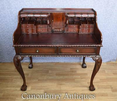 Chippendale Desk in Mahogany Writing Table Escritoire English Furniture