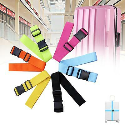 Adjustable Suitcase Luggage Straps Travel Baggage Tie Down Belt Lock Packing CB