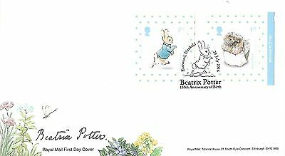 Gb 2016 Beatrix Potter Retail Nvi Booklet Stamps Fdc With Peter Rabbit Postmark