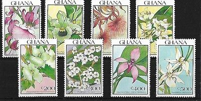 Ghana Sg1480/7, 1990 Orchids, Unmounted Mint, Cat £12+