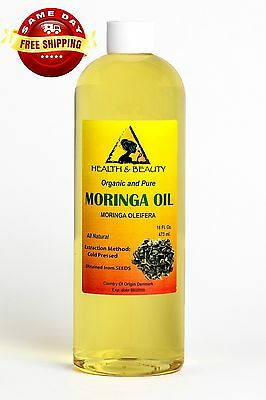 MORINGA OLEIFERA OIL ORGANIC CARRIER COLD PRESSED by H&B Oils Center PURE 32 OZ