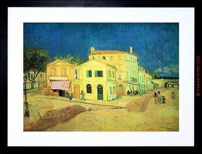 Painting Van Gogh Vincent's Yellow House Framed Picture Art Print F97X9767