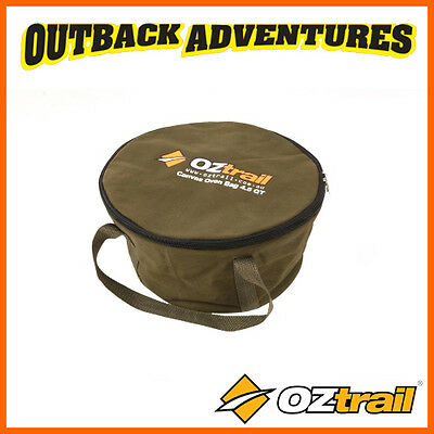 Oztrail Canvas 4.5 Quart Camp Oven Bag - Storage & Carry Bag With Handles