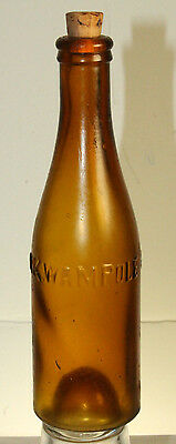 H K Wampole & Co Philada Amber Small 6'' Bottle