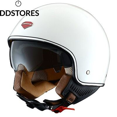 Astone Helmets Casque Jet Mini Retro, Blanc Brillant, M