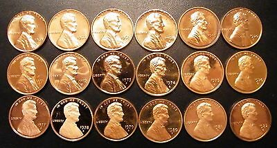 1965 P to 1982 S Proof US Lincoln Penny 18 Coin Set Mint Lot with minor issues
