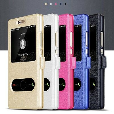 Luxury Flip PU Leather Stand Windows Case Cover For Huawei P8 P9 P10 Lite Plus