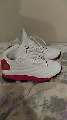men's white red jordan retro 13 size 8