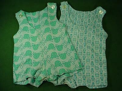 VINTAGE 1970s HEALTHTEX ROMPERS BABY CLOTHES SZ 12 / 24 MOS NICE
