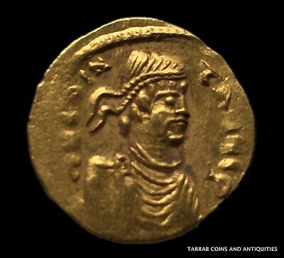 Ancient Byzantine Gold Coin Semissis!!!  Constans 641-668 Ad!!! Nice !!!