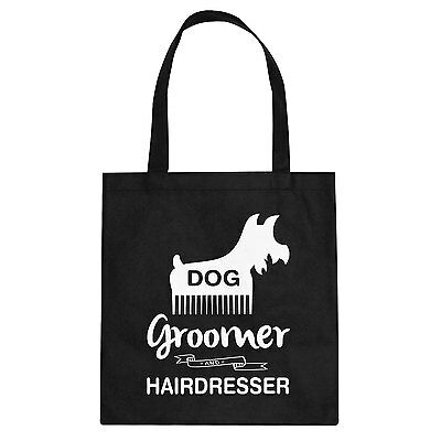 Tote Dog Groomer Cotton Canvas Tote Bag #3155