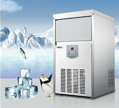 48kg/24h Commercial Auto Ice Maker Clear Cube Ice Making Machine 220V