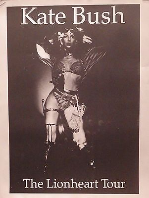 TOUR POSTER~Kate Bush Live On Stage The Lionheart Tour of Life NOS UK Import~
