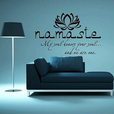 Lotus Flower Wall Decal Mandala Namaste Vinyl Sticker Decals Bohemian Decor