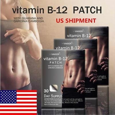 1pack 30day Supply Vitamin B12 Energy Patch Guarana Fitness Slimming Body Bulid