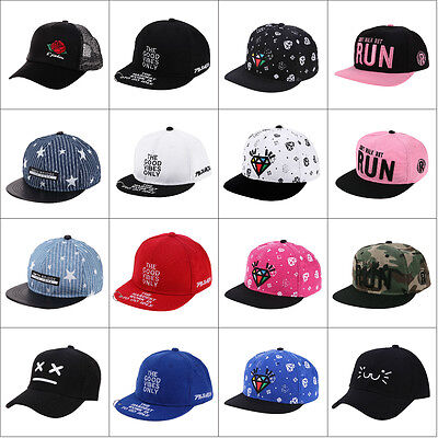 Baby Boy Girl Kids Baseball Cap Peaked Visor Cap Snapback Adjustable Hip Hop Hat