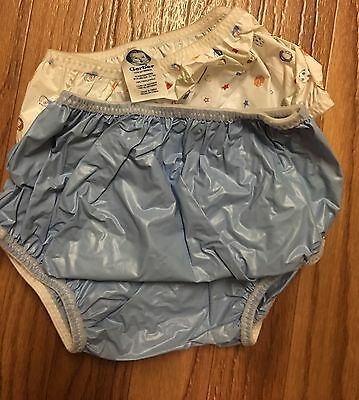 Gerber Plastic Pants Vinyl Diaper Covers Potty Training 18 mo 24-28lbs EUC!