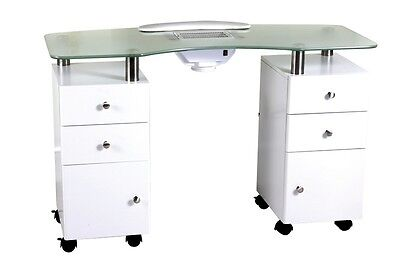 Double Cabinet Manicure Table With Dust Extractor - Australian Seller