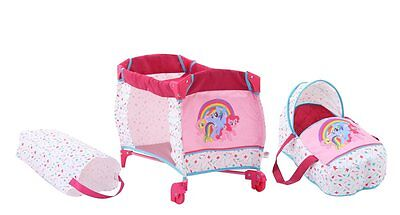 Travel cot 2in1 My Little Pony for Dolls+Soft bag by Hauck NIP