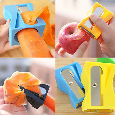 Easy Carrot Cucumber Sharpener Peeler Slices Kitchen Tool Vegetable Fruit Slicer