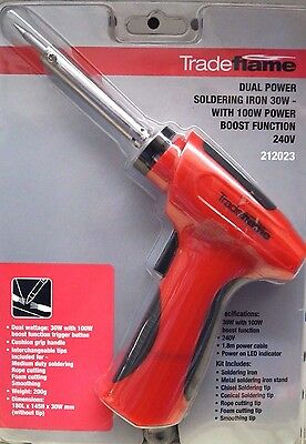 Trade Flame Dual Power Soldering Iron 30W with 100W Boost 240V