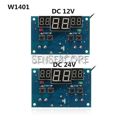 DC12V/24V XH-W1401 Intelligent Led Thermostat -9°C - 99°C Temperature Controller