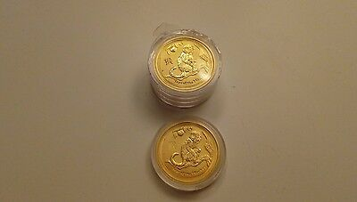 2016 Perth Mint 1/10oz Gold Lunar Monkey Bullion Coin