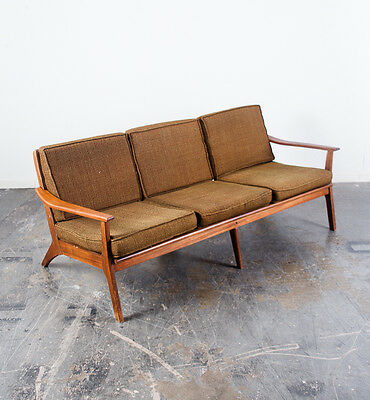 Mid Century Modern Sofa Couch Vintage Fort Smith Dux Pearsall Baughman VG Danish